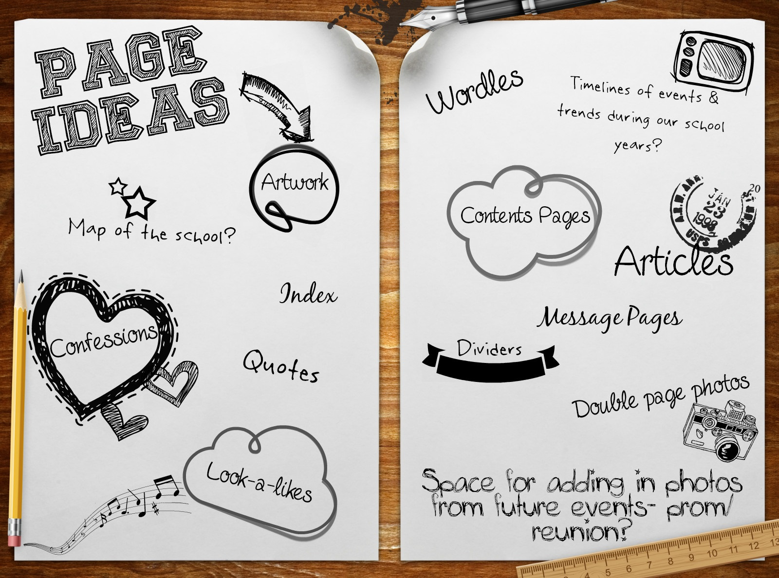 Turning the page allyearbooks blog for Page decoration ideas